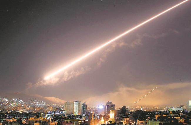 US France UK strike targets in Syria